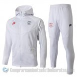 Chandal con Capucha del Paris Saint-Germain 19-20 Blanco
