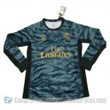 Camiseta Real Madrid Portero Segunda Manga Larga 19-20