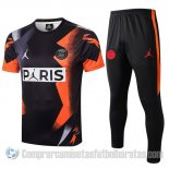 Chandal del Paris Saint-Germain Jordan Manga Corta 19-20 Negro
