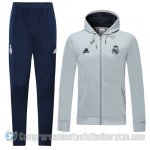 Chandal con Capucha del Real Madrid 19-20 Gris